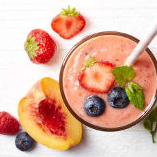 Berry Basil Peach Smoothie